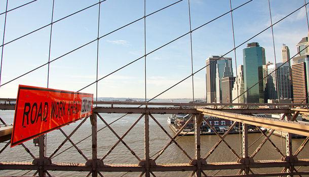 Manhattan depuis Brooklyn Bridge par Marie Olive